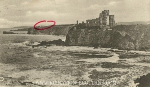 Seacliff - postcard of Tantallon posted 1906